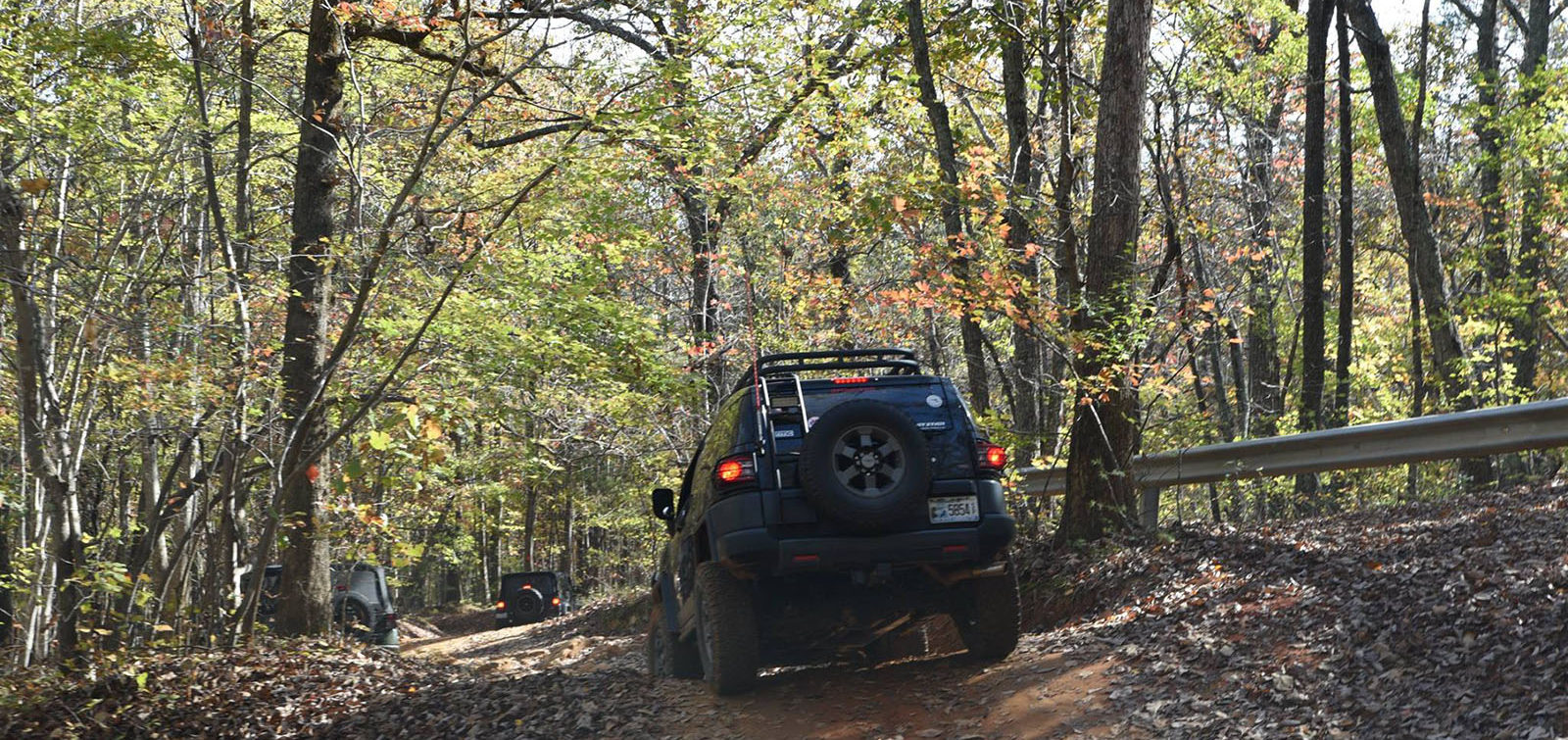 FJ cruiser at Uwharrie -central NC 4x4