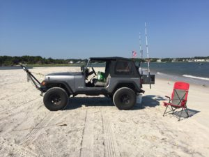 Ralph's Jeep at beach bash