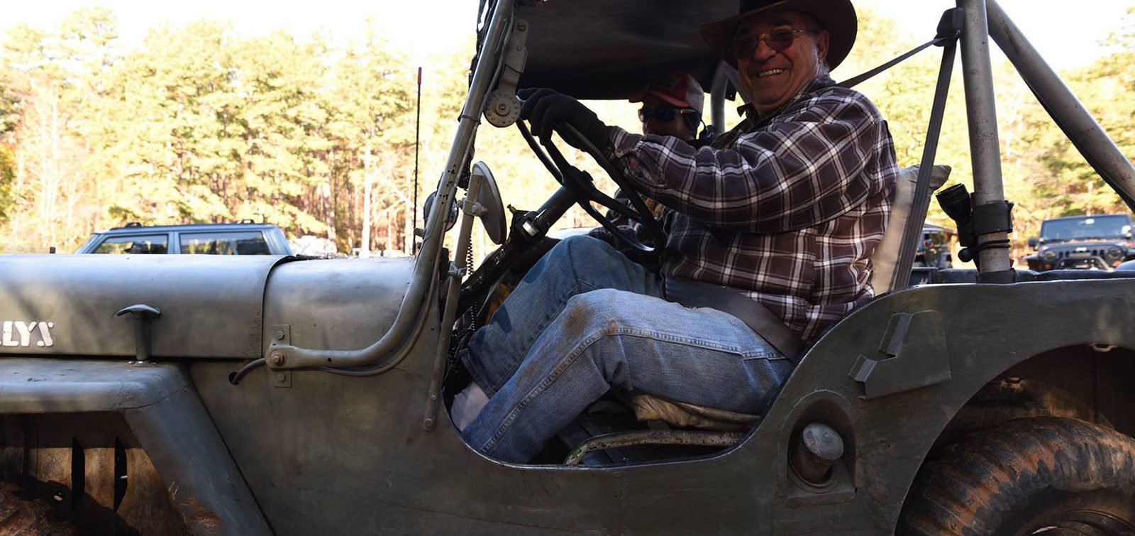 Jack and his Willys- central NC 4x4 - OHV trail ride at Uwharrie National Forest