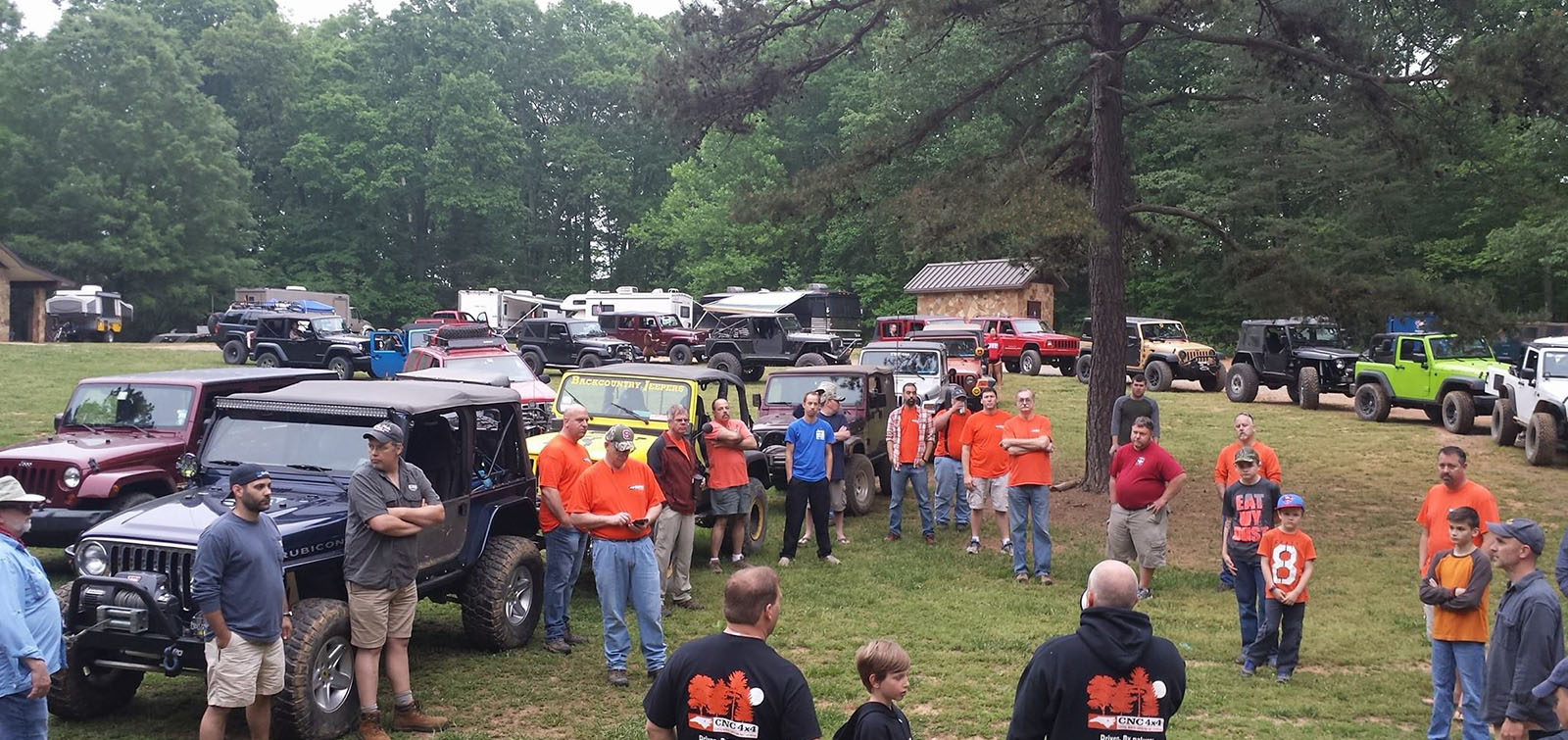 cnc4x4 spring fling pre-ride prep at Uwharrie